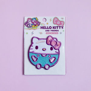 Loungefly Hello Kitty Purple Bubble Iron-On Patch front view