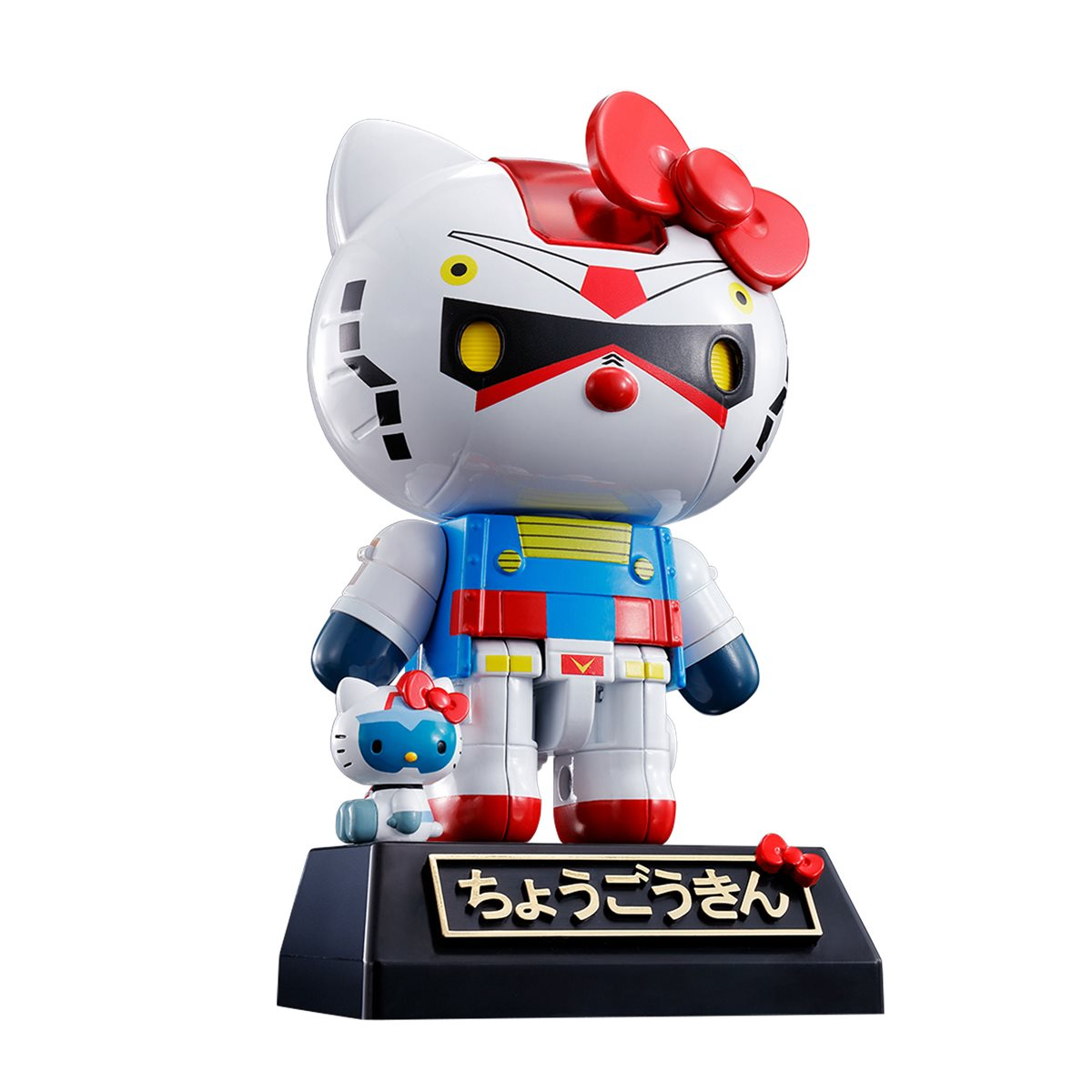 completed Chogokin Gundam Hello Kitty front