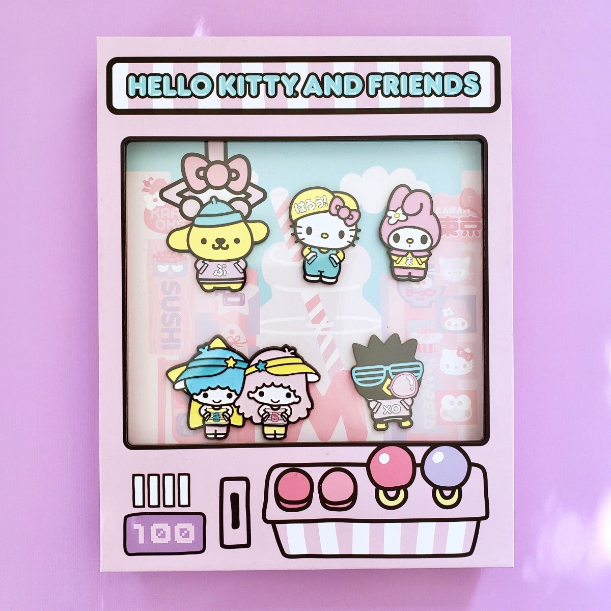 Loungefly Hello Kitty & Friends NYCC Limited Edition Pin Collector set front view