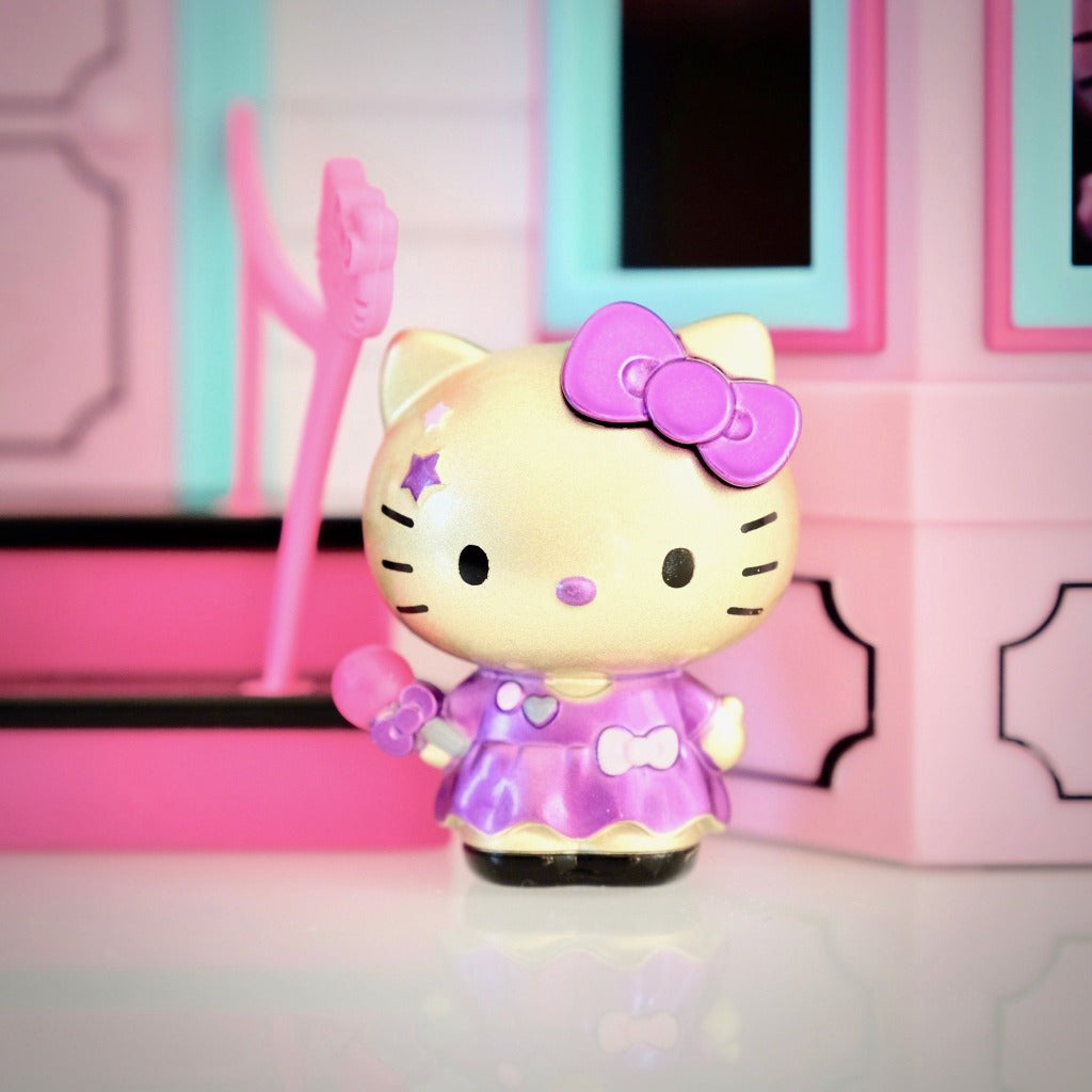 unboxed Hello Kitty singer in purple dress Metalfigs