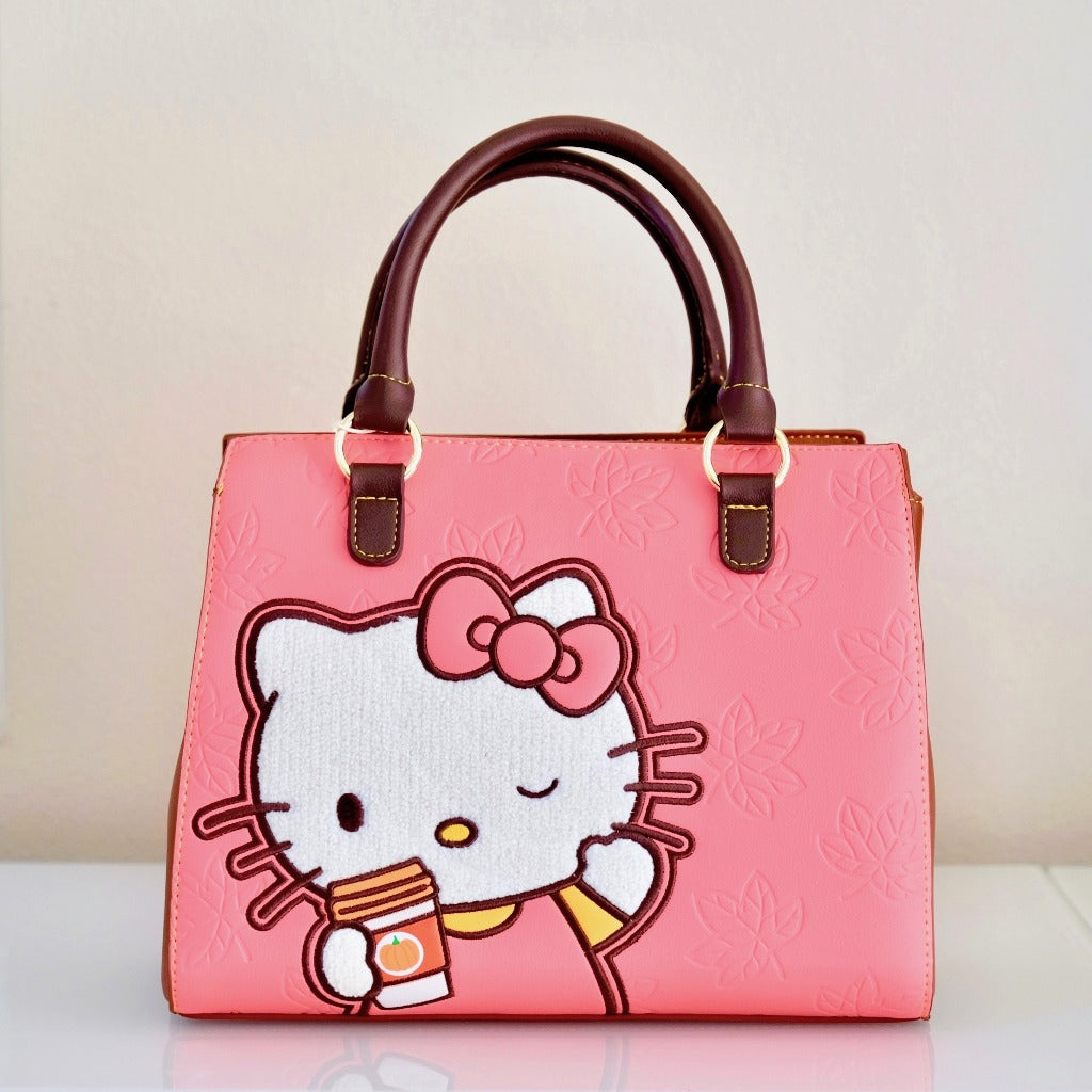 Loungefly Hello Kitty Pumpkin Spice Latte Wave Crossbody Handbag front