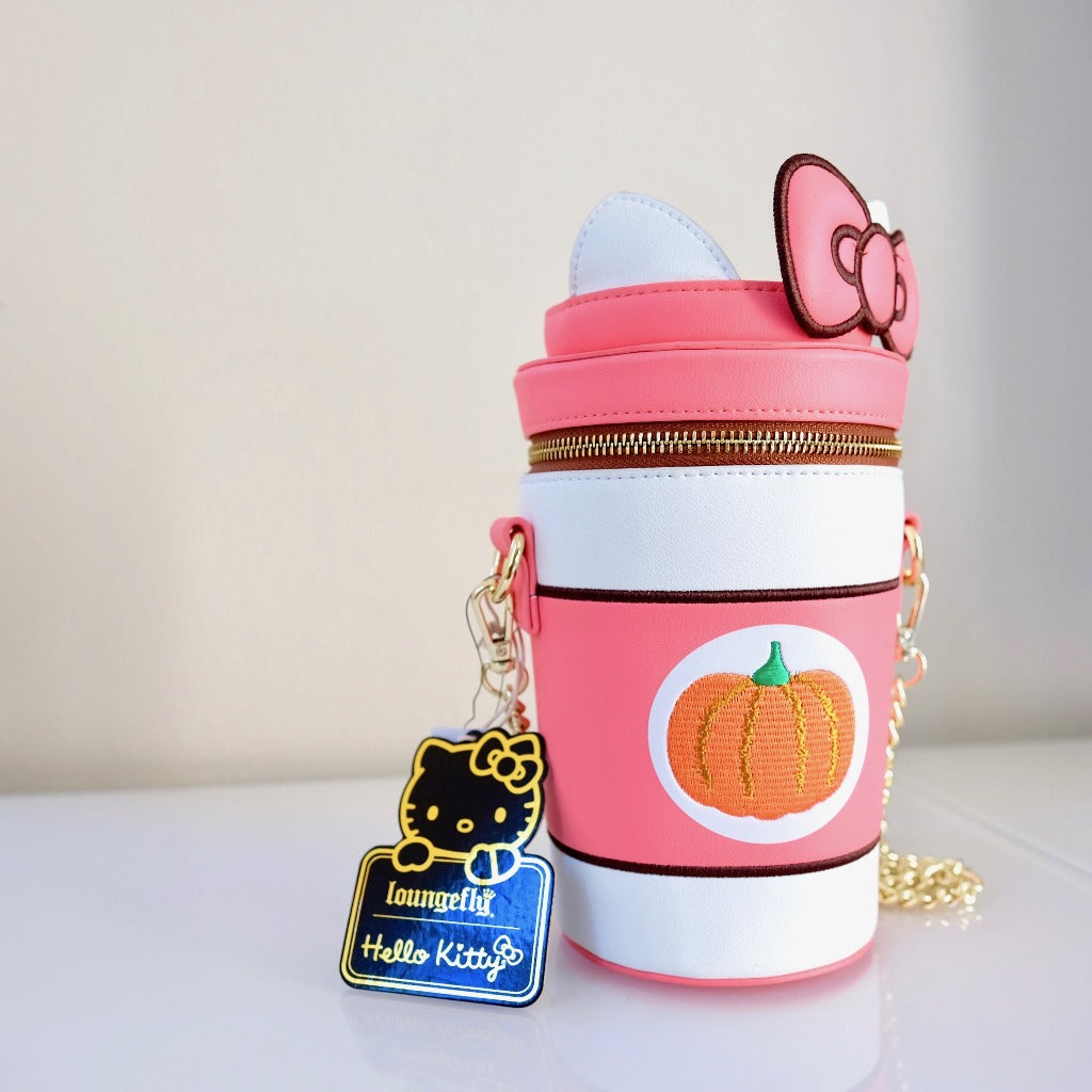 Loungefly Hello Kitty Pumpkin Spice Cup Bag front