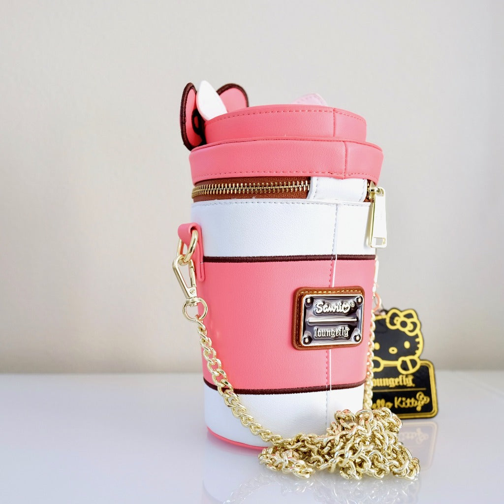 Loungefly Hello Kitty Pumpkin Spice Cup Bag back