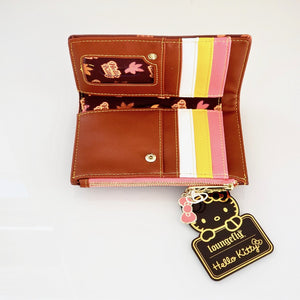 Loungefly Hello Kitty Pumpkin Spice wallet interior