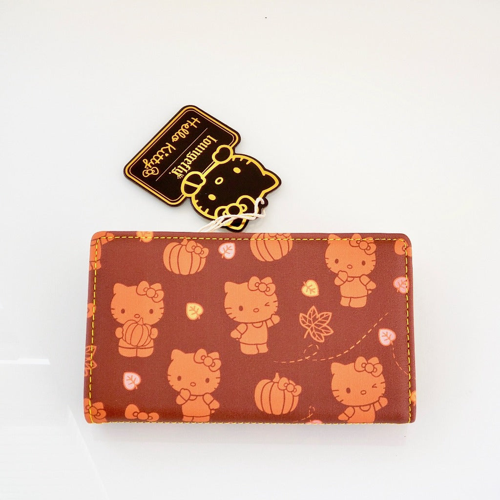 Loungefly Hello Kitty Pumpkin Spice wallet back