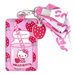 Loungefly Hello Kitty Lanyard Berrylicious front view