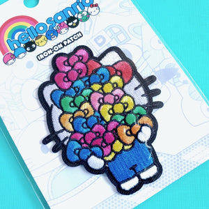 Loungefly Hello Sanrio Bows Iron-on Patch closeup