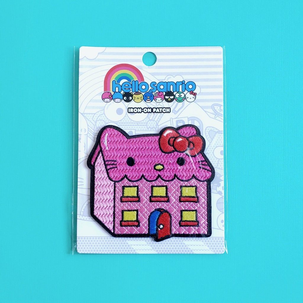 Loungefly Hello Sanrio Pink Kitty House iron-on patch front