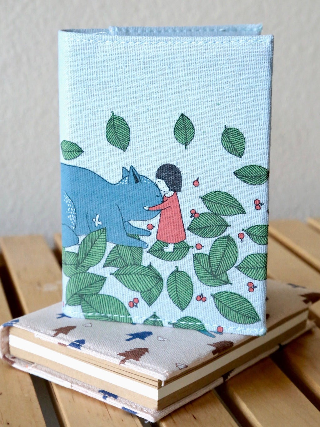 great friend light blue fabric cover journal style shot