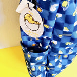 Loungefly Sanrio Gudetama Chopsticks Lazy Egg AOP Nylon Backpack right side drink pocket