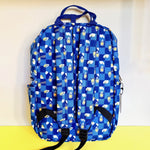 Loungefly Sanrio Gudetama Chopsticks Lazy Egg AOP Nylon Backpack back view