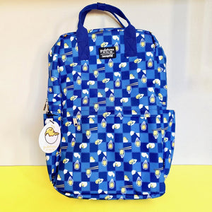 Loungefly Sanrio Gudetama Chopsticks Lazy Egg AOP Nylon Backpack front view