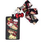 Loungefly Hello Kitty Snacks Lanyard front view