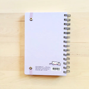 Morning Glory Hardcover Scheduler with Elastic Band Closure: Light Purple