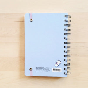 back cover of morning glory light blue scheduler