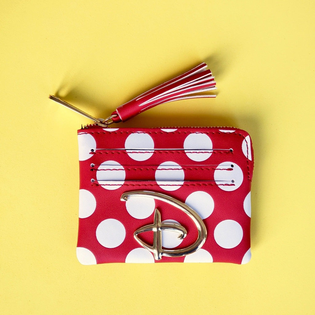 Loungefly Disney red white polka dot cardholder