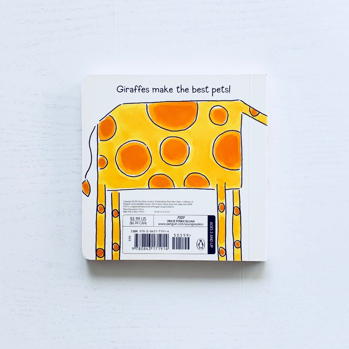 My Pet Giraffe back cover