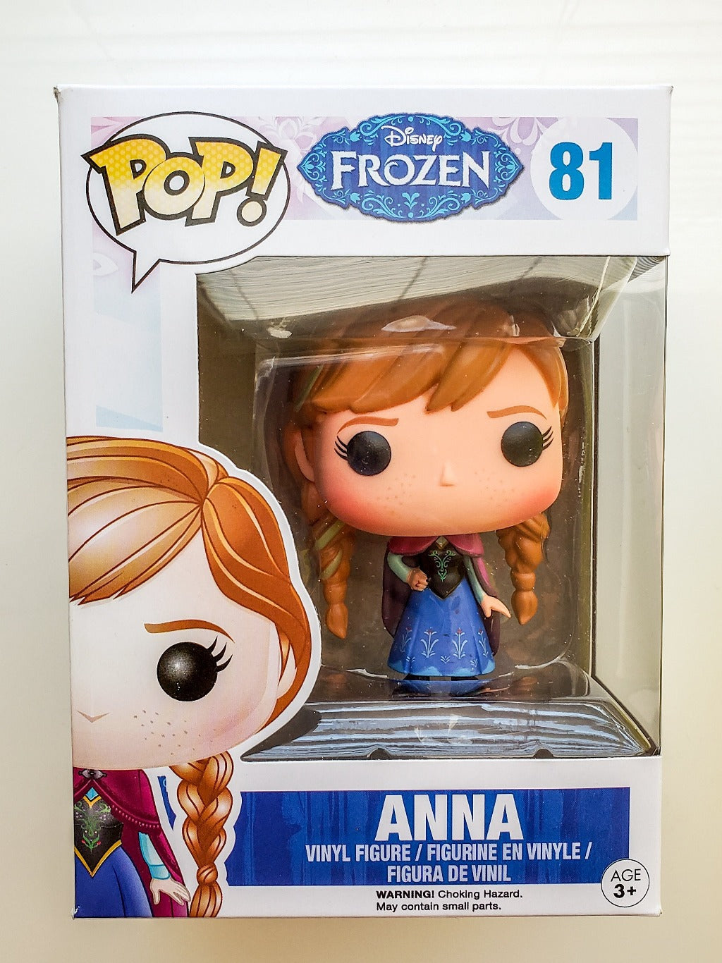 Funko POP! Disney Frozen Anna 81 Collectible Vinyl in regular lighting