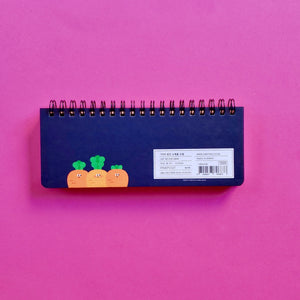korean stationery weekly scheduler navy back cover