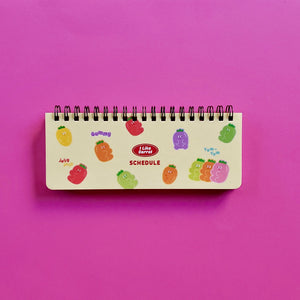 korean stationery weekly scheduler yellow front cover