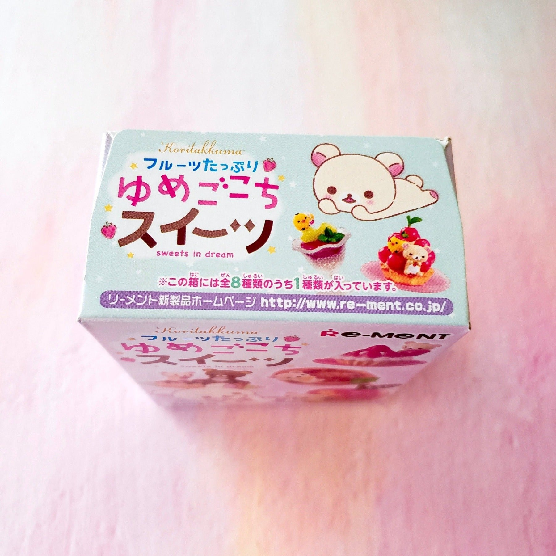 Re-Ment Korilakkuma Sweets in Dream series top of box