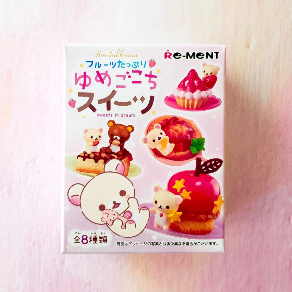 Re-Ment Korilakkuma Sweets in Dream series front box view