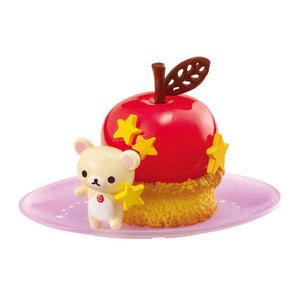 Re-Ment Korilakkuma Sweets in Dream series Korilakkuma with a yellow star next to cherry sponge cake