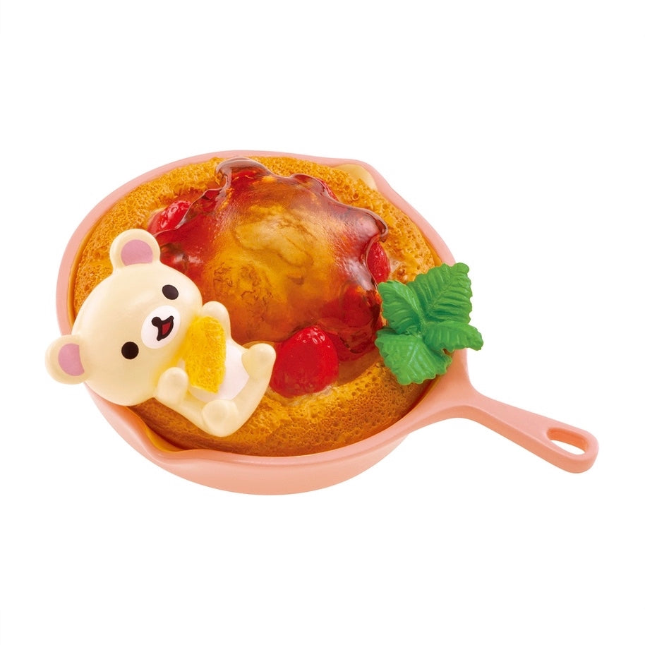 Re-Ment Korilakkuma Sweets in Dream series Korilakkuma in a skillet berry dessert