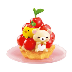 Re-Ment Korilakkuma Sweets in Dream series Korilakkum and Kiiroitori on a cherry tart