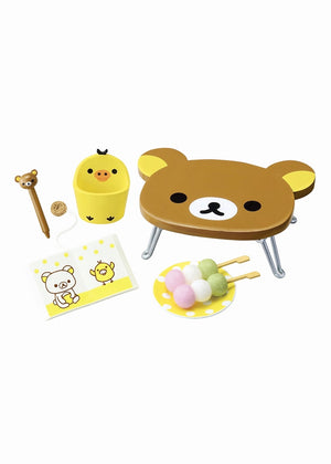 Re-Ment Rilakkuma Room Blind Box series table, dango, accessories