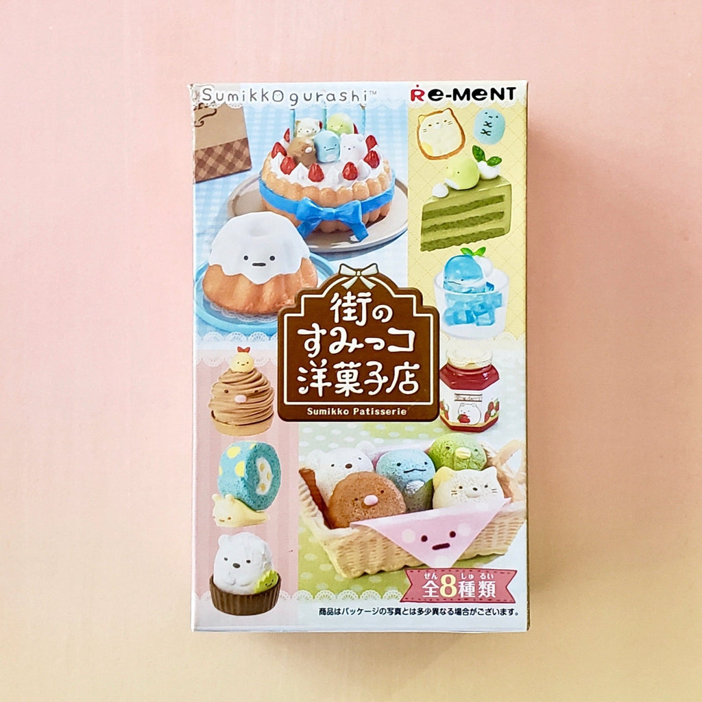 front view of re-ment sumikko gurashi patisserie blind box series