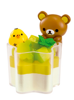 Re-Ment Korilakkuma Sweets in Dream series Rilakkuma and Kiiroitori in matcha dessert