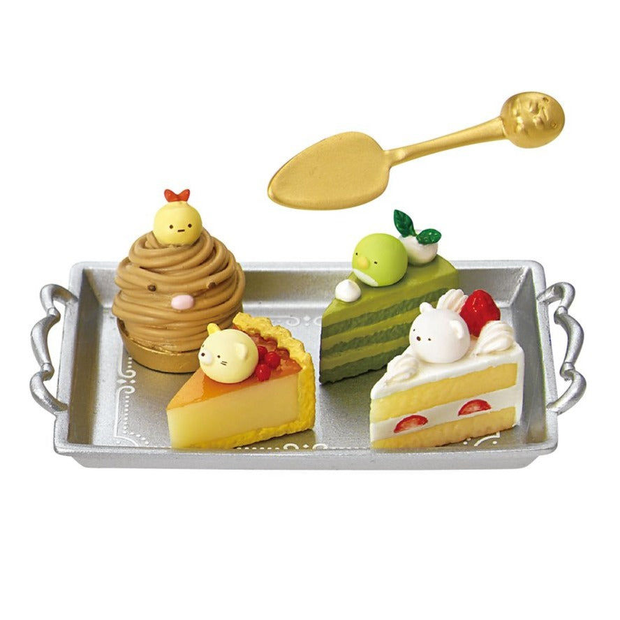 mini cake slices of re-ment sumikko gurashi patisserie blind box series