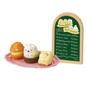 sweets tray with menu in re-ment sumikko gurashi patisserie blind box series