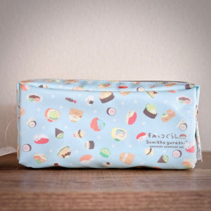 sumikko gurashi sushi patter zippered pouch front view