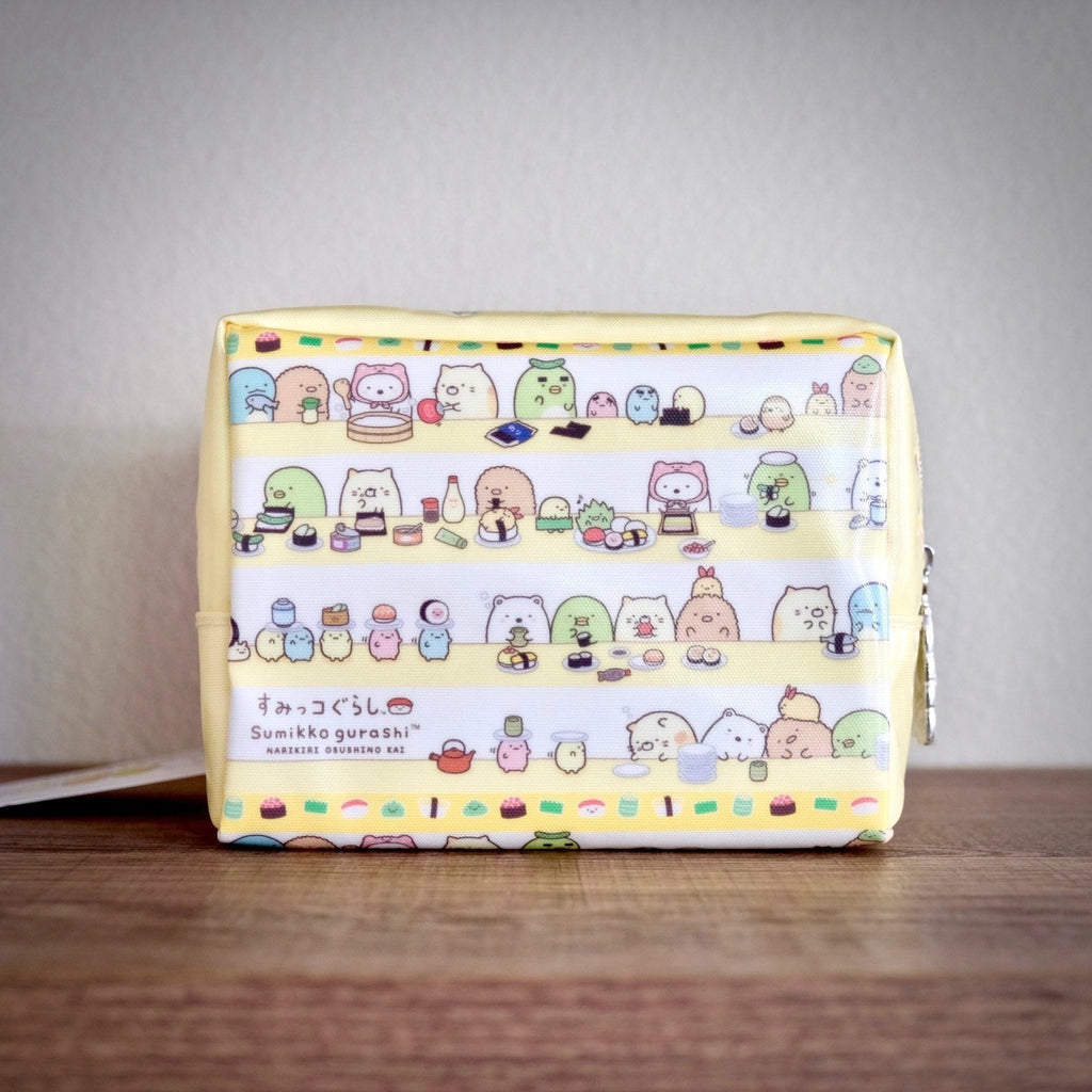Sumikko Gurashi Sushi Restaurant Zippered Pencil Pouch front view