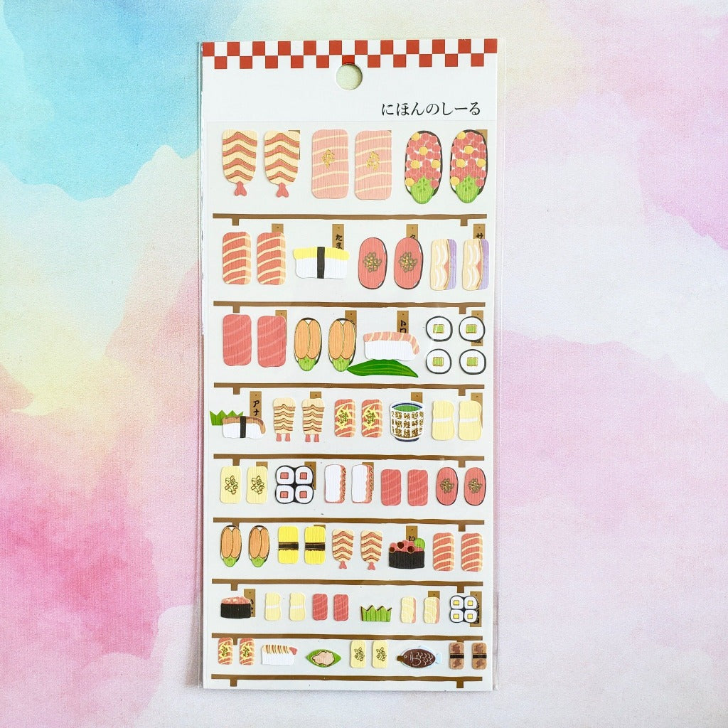 full view paper sushi stickers