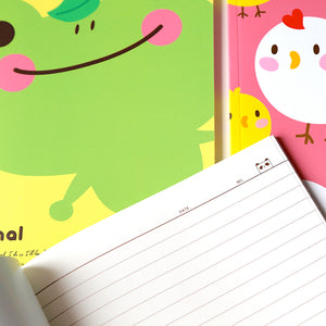Kawaii Stationery Cute Pinkfoot Notebook inside lined pages