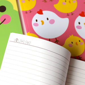 Kawaii Stationery Cute Pinkfoot Notebook inside page graphics