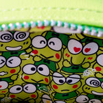 Loungefly Keroppi Mini Backpack interior lining