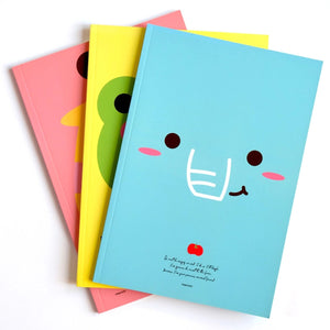 Kawaii Cute Pinkfoot Blue Elephant Cover Notebook