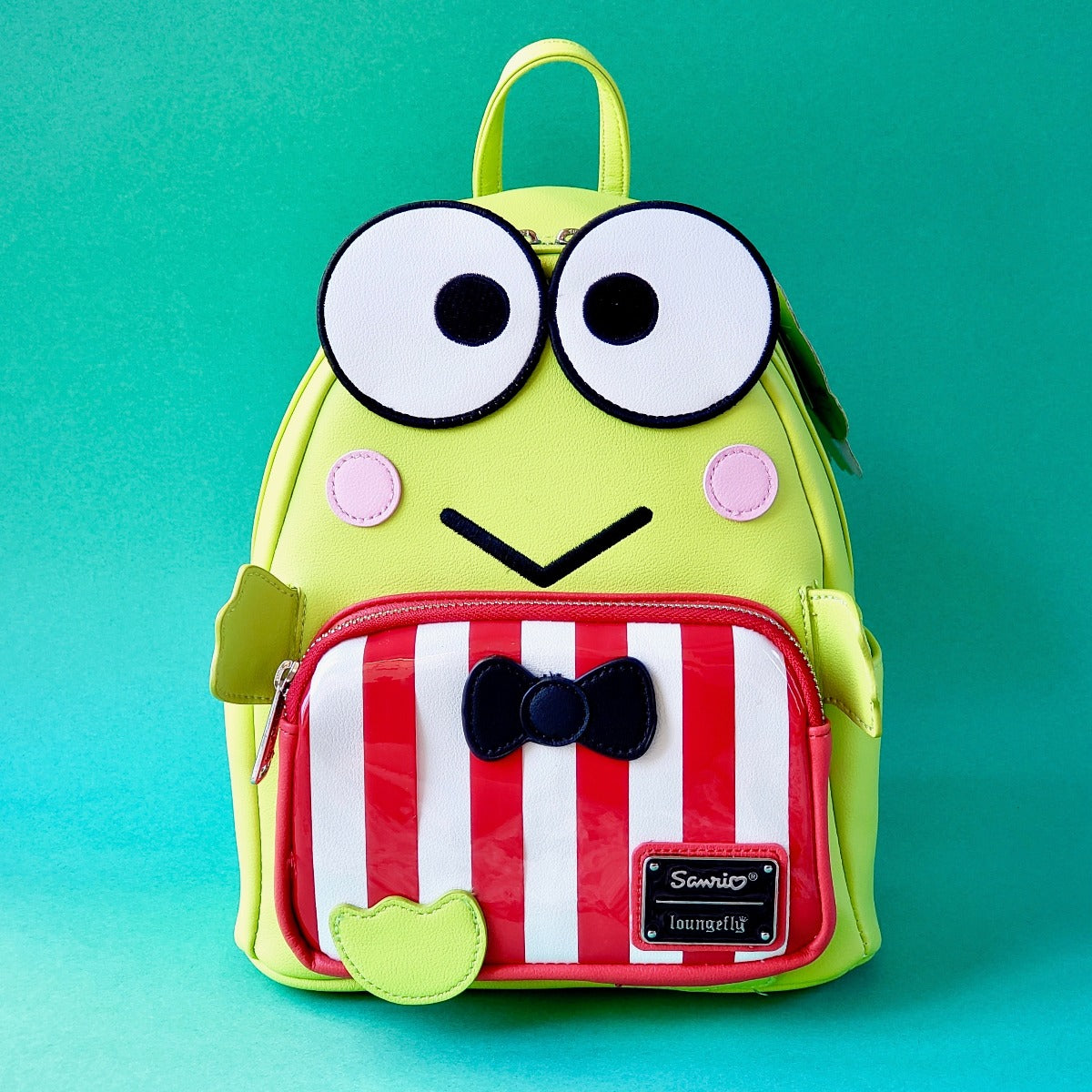 Loungefly Keroppi Mini Backpack front view