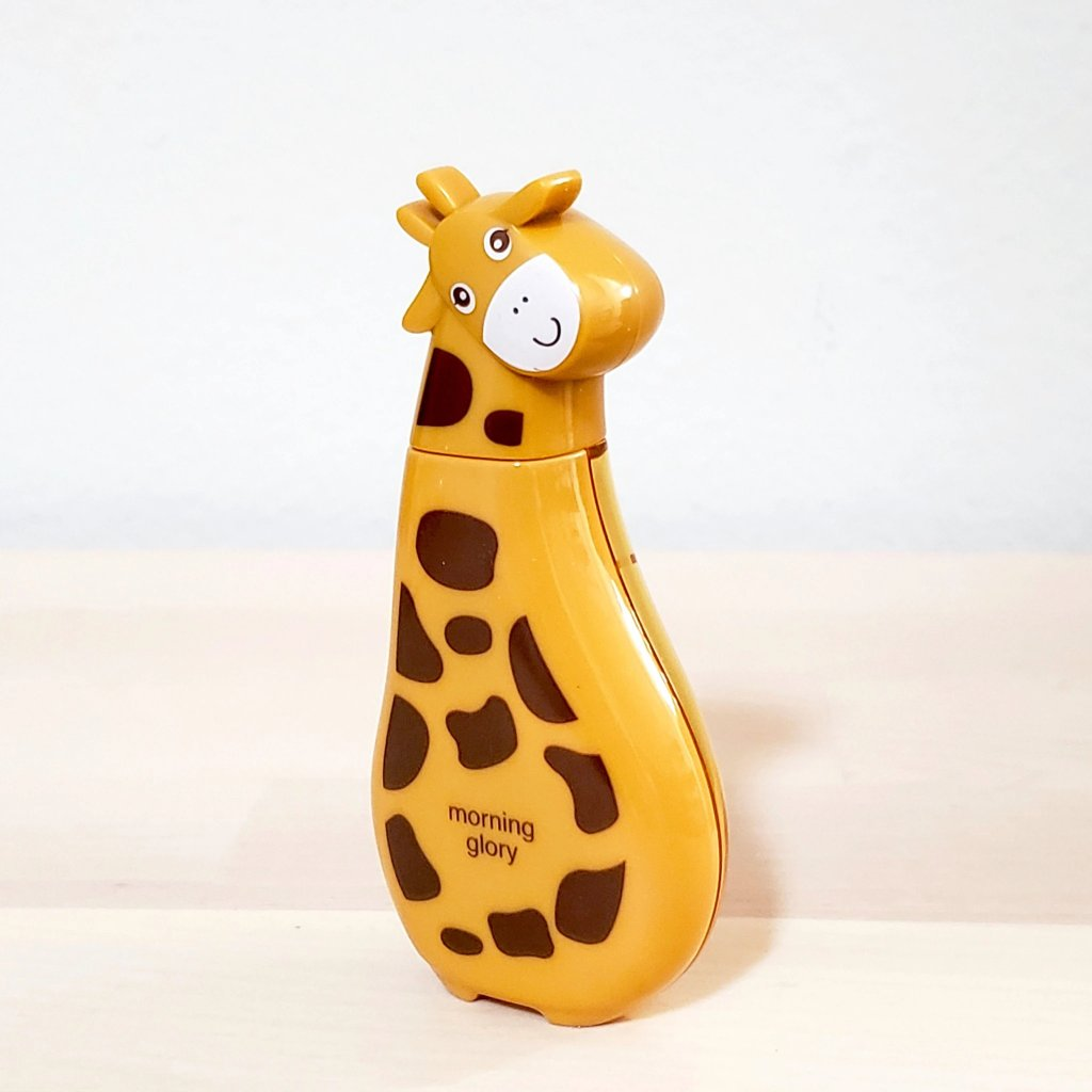 Cute Korean Stationery | Morning Glory Kawaii Giraffe Correction Tape (Tan With Brown Spots)