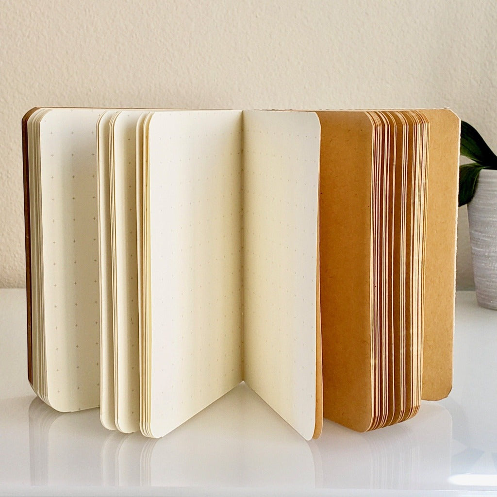 Cute Journals | Great Friend Hardbound Journal Little Houses Cover (inside pages)