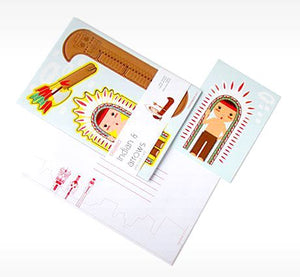 cute greeting cards studio ROOF cute pop out ca rd Indian & Arrows Dutch/Netherlands