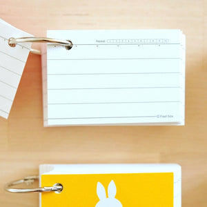 miffy index cards study cards with ring