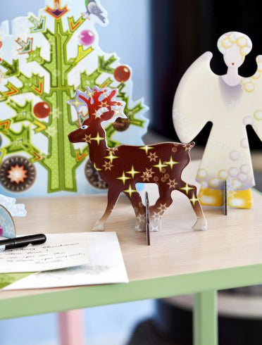cute greeting cards studio roof popout card reindeer