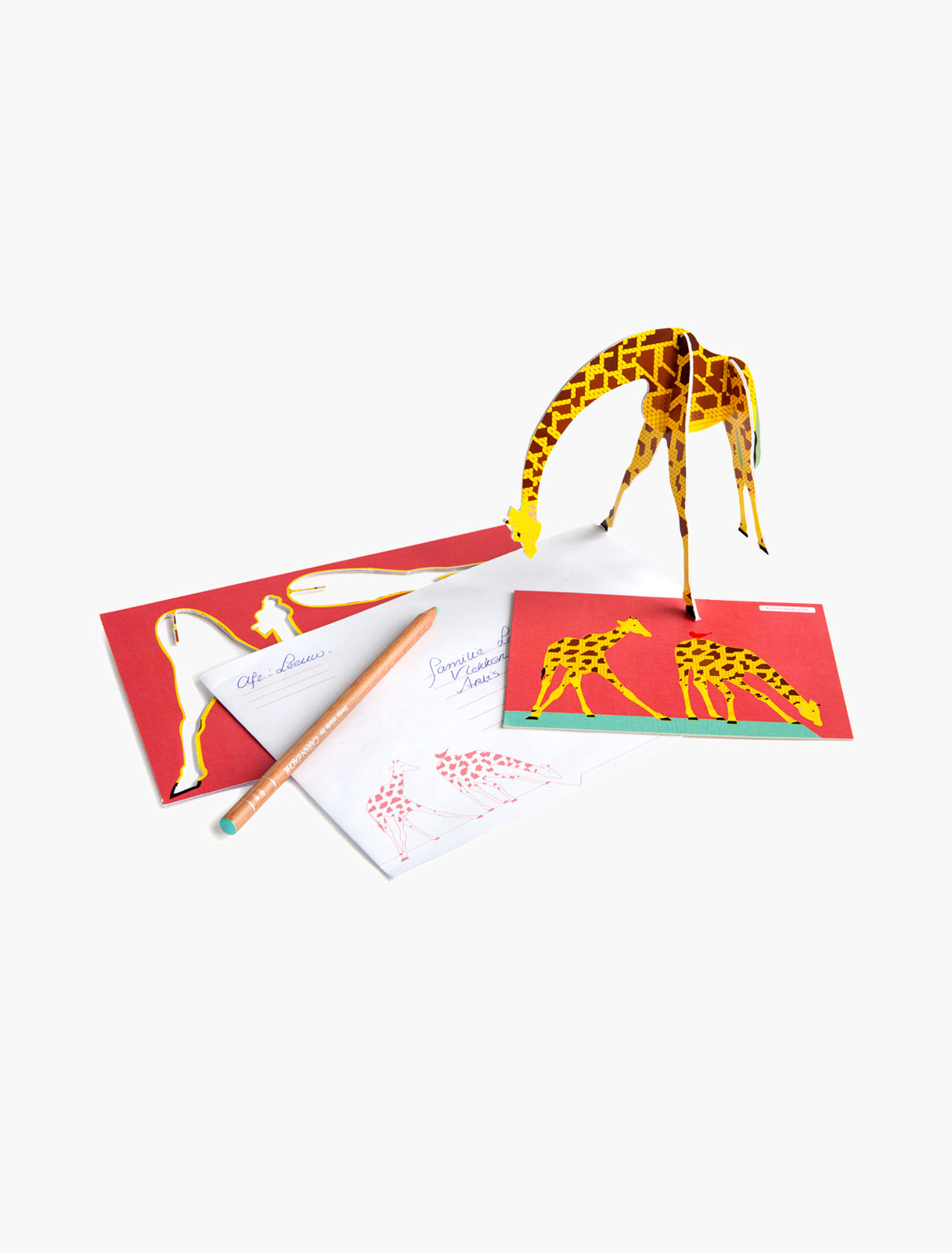 cute greeting cards studio ROOF cute pop out card giraffe Dutch/Netherlands