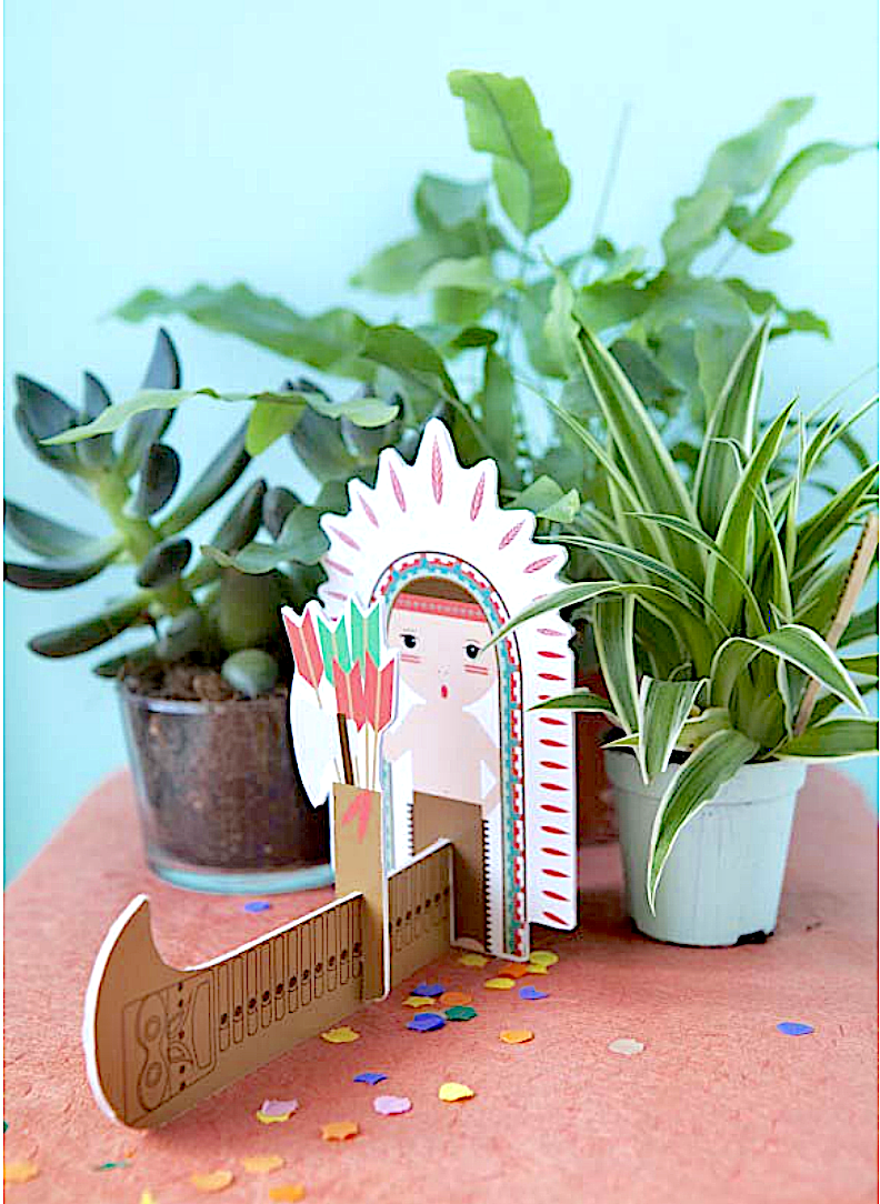 studio ROOF cute pop out card Indian & Arrows Dutch/Netherlands