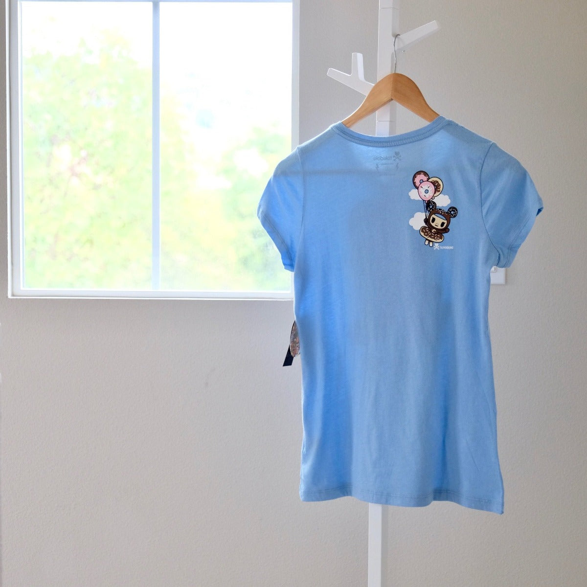 tokidoki My Balloon light blue T-shirt Ciambello back view